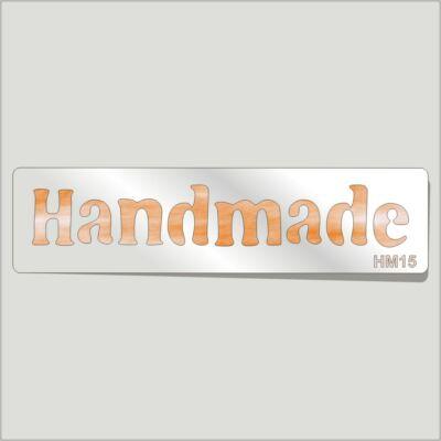 Handmade Festősablon Felirat