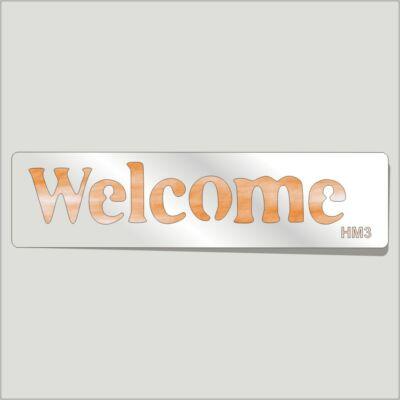 Welcome Festősablon Felirat
