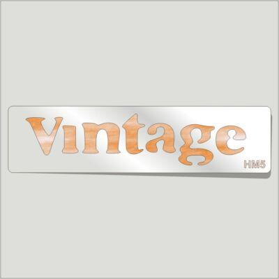 Vintage Festősablon Felirat