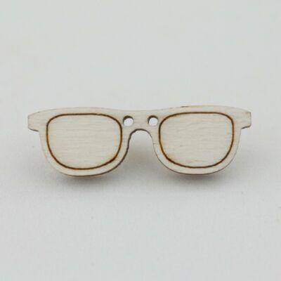 Fafigura Gomb – Szemüveg