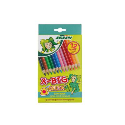 Színes ceruza 12/klt JOLLY X-Big Delta háromszög