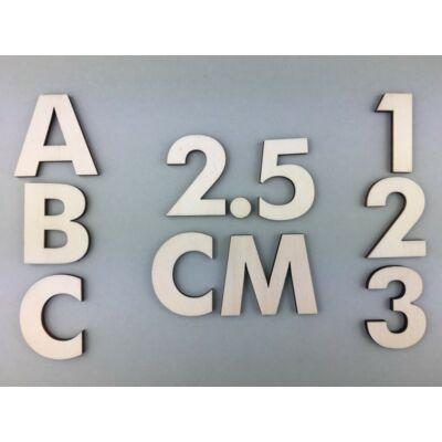 OB1 2,5 cm natúr betűk, számok