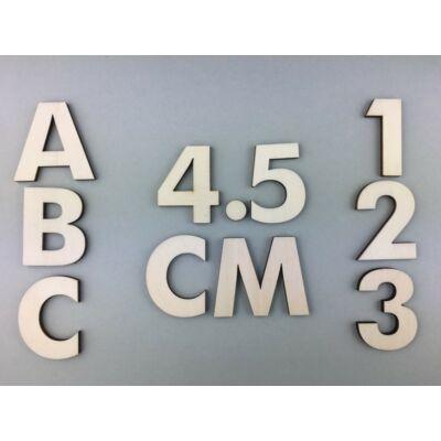 OB1 4,5 cm natúr betűk, számok