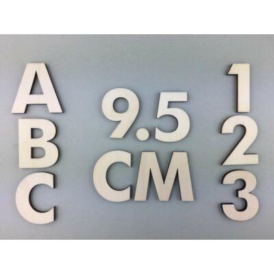 OB1 9,5 cm natúr betűk, számok