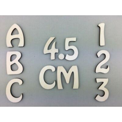 OB3 4,5 cm natúr betűk, számok