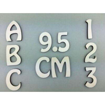 OB3 9,5 cm natúr betűk, számok