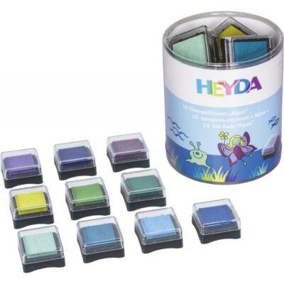 HEYDA 10 darabos, fa pecsétnyomó (Aqua)