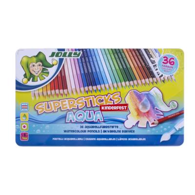 Színes ceruza 36/klt JOLLY Aqua fémdobozban