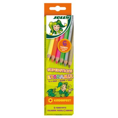 JOLLY Extramix neon+metál 6 darabos készlet
