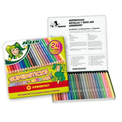 JOLLY Metallic-mix 24 darabos színes ceruza készlet