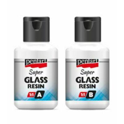 SUPER GLASS RESIN üveggyanta 2x40ml